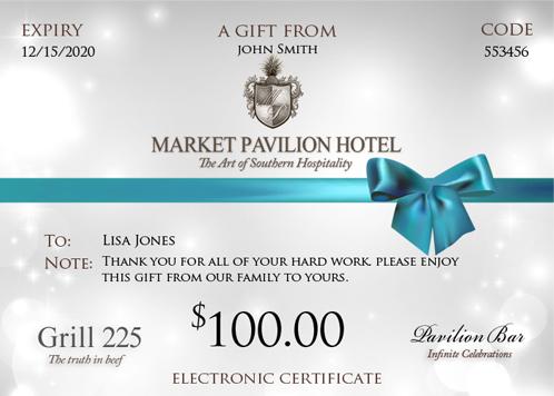 Grill 225 E-Gift Certificates